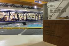 BusinessGreen Technology Awards 2015 - Innovation of the Year 2015, award beside tank